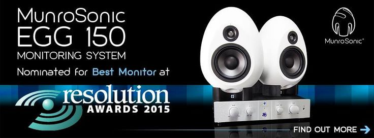 We're honoured to be nominated in this year's Resolution Magazine Awards for our #EGG150 Monitoring System!  Find out more: http://www.munrosonic.com/news/2015/8/6/egg150-monitoring-system-nominated-in-2015-resolution-awards #ResolutionMagazine #Awards #MunroSonic #StudioMonitors