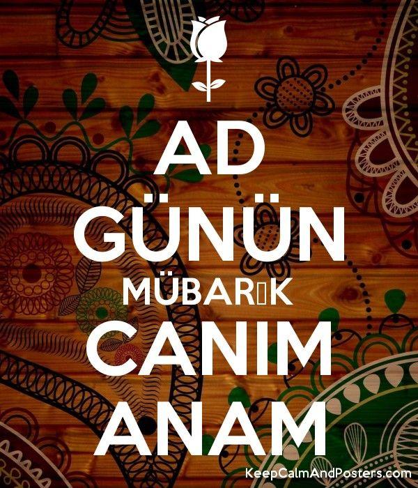 Ad Gunun Mubarək Canim Anam Poster Generator Ads Poster