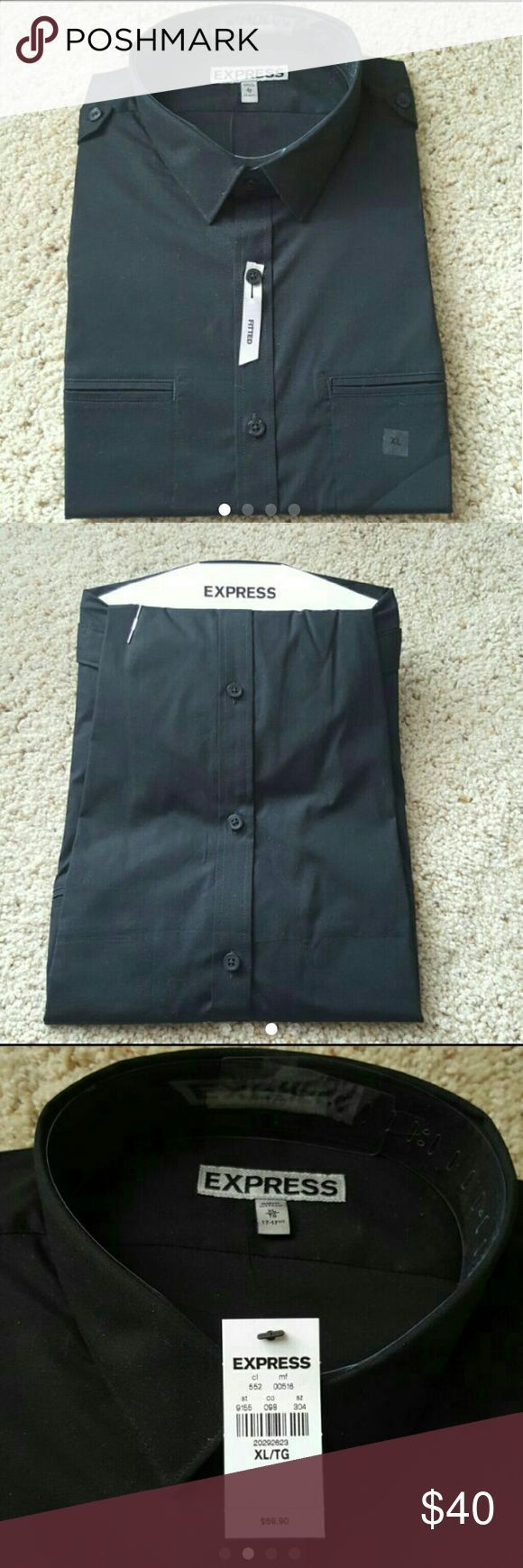 Awesome Express Black Dress NWT Men's Black Fitted Welt Pocket Going Out Shirt Express Men's black g... Check more at http://24store.ml/fashion/express-black-dress-nwt-mens-black-fitted-welt-pocket-going-out-shirt-express-mens-black-g/