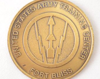 US Army Training Center Fort Bliss Super Soldier Fit To Fight Challenge Coin - Used by vintagecornerbazaar. Explore more products on http://vintagecornerbazaar.etsy.com