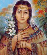 Kateri was born in 1656 near the town of Auriesville, New York, the daughter of a Mohawk warrior. She was baptized by Jesuit missionary Fr. Jacques de Lambertville on Easter of 1676 at the age of twenty. She devoted her life to prayer, penitential practices, and the care of the sick and aged in