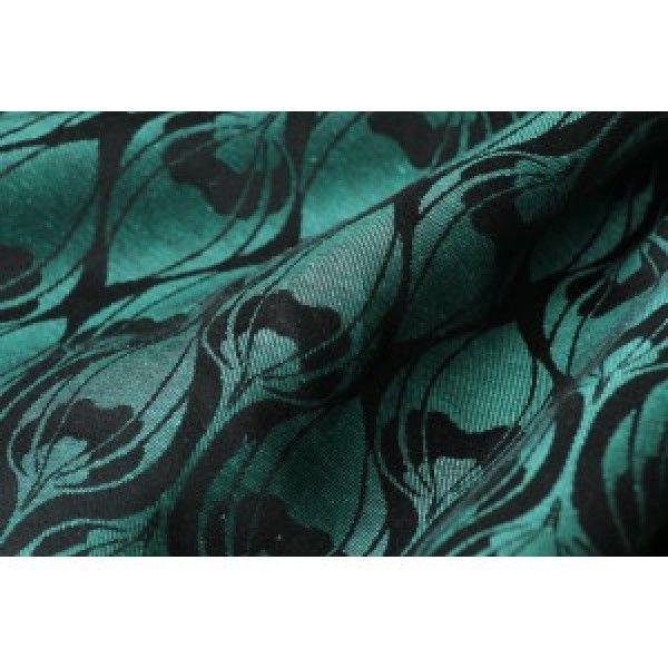 Yaro Slings YARO LA FLEUR AQUA GREEN-BLACK LINEN Wrap tg. 4 3,60 mt