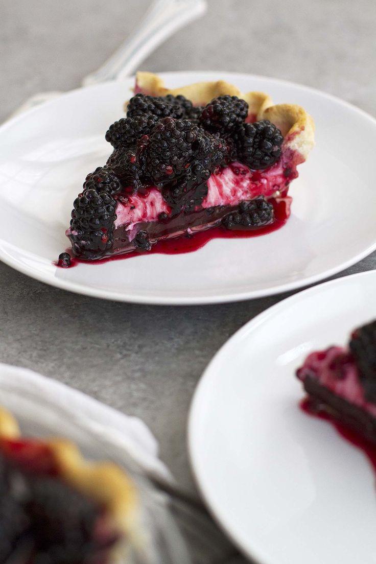 Blackberry Black Bottom Pie