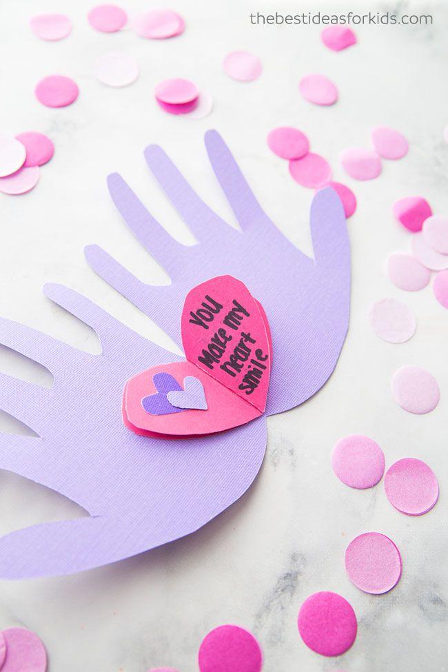 Handprint Valentine Craft Diy S Pinterest Valentines