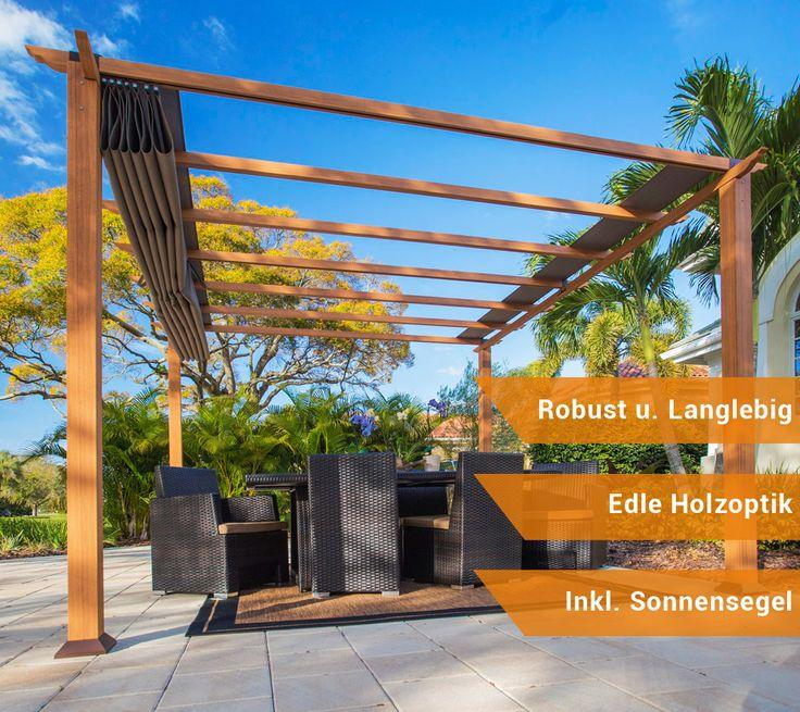 25+ Best Ideas About Sonnenschutz Garten On Pinterest ... Pergola Gartentor Sichtschutz Gemutlichkeit