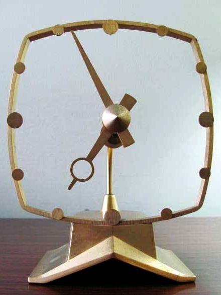 Jefferson Golden Secret Art Deco Electric Clock by PopEraDesign