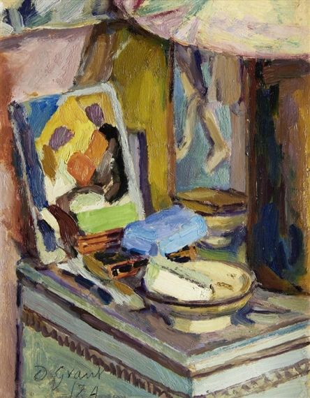✽ duncan grant - 'table by the studio fireplace' - mutual art