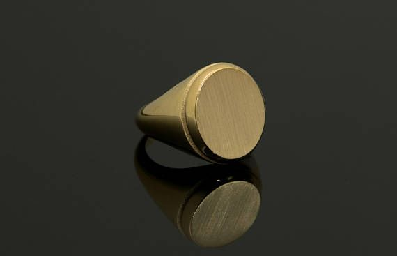 Gold Signet Ring 14k Gold Signet Ring Man Gold Ring Signet