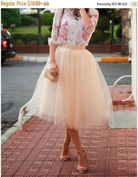 ON SALE Adult Tulle Skirt Blush tulle skirt by MyBarkatVilla