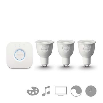 KIT 3 Becuri LED Philips HUE, GU10, White and color ambiance http://www.etbm.ro/philips-hue-connected-lighting