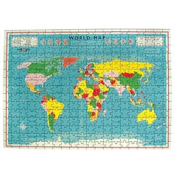 Novelty Office Products - Living & Giving - World Map Jigsaw 50x36cm