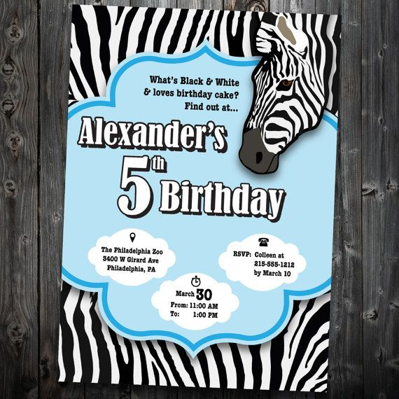 the 35 best images about zebra birthday party on pinterest, Birthday invitations