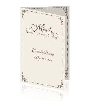 Een kaart voor een menu maken of een idee voor een huwelijk of verjaardag. Een DIY dinerkaart bestellen.
