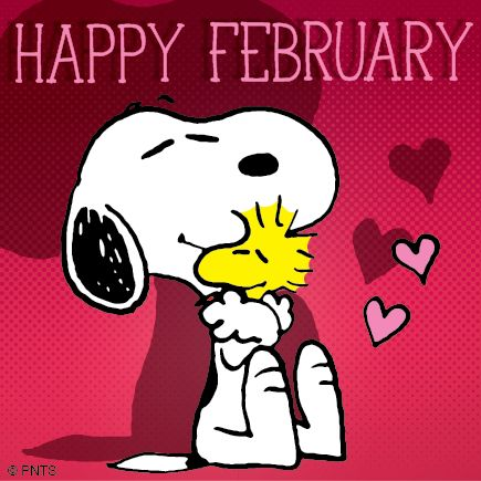 !¡  Happy February! #February #Snoopy #Woodstock #Peanuts
