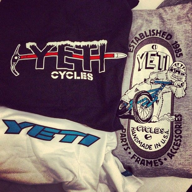 """13 Likes, 2 Comments - Dominic Yard (@dominicyard) on Instagram: """"Sweet bag of Yeti T's arrived in the post today! #yeti #sb66 #yeticycles #radlogos #retrobike"""""""