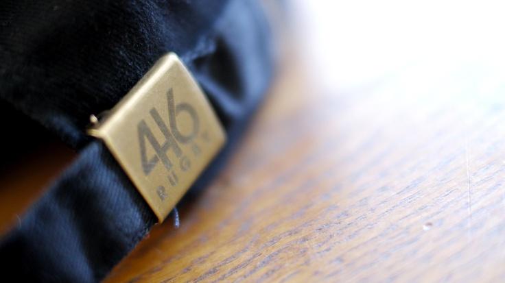 Casquette 416 Rugby noire - Marquage laser sur la sangle