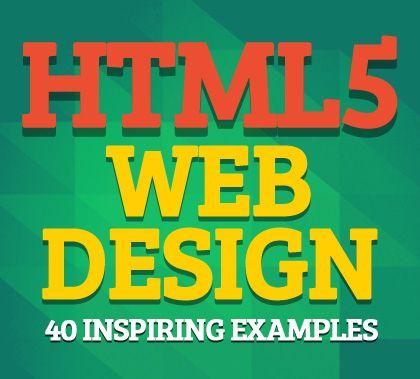 HTML5 Web Design: 40 Inspiring Examples #html5 #html5webdesign #html5css3