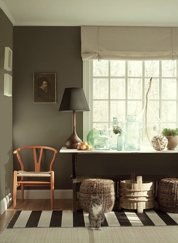 Copley Gray-- (Bunny) Ten Colorful Paint Colors That Act Like Neutral Paint Colors - laurel home