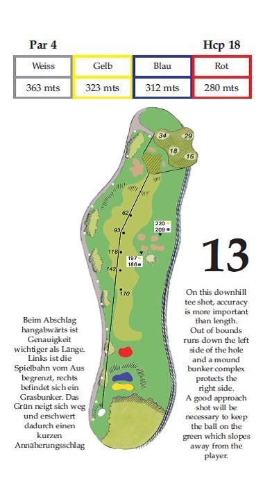 Lochbeschreibung Tee 13 im Golfclub Gut Altentann