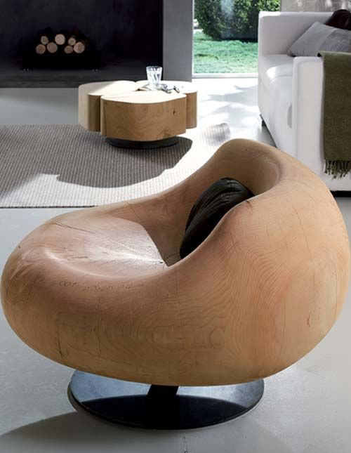 Hand crafted chair from Riva1920 collection. Not sure why but I think it's cool.