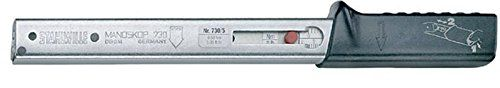 Stahlwille 730/20 Service Manoskop Torque Wrench, Size 20, 40-200Nm (30-145 ft.lb) Scale Range, 5Nm (5 ft.lb) Scale Division, 28mm Width, 23mm Height, 455mm Length