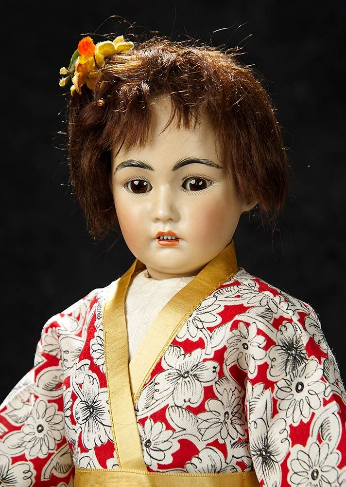 Bijoux - January 6-7, 2018 in Newport Beach, CA: 272 German Bisque Portrait of Asian Child, 1329, by Simon and Halbig.
