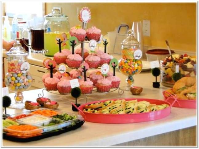 baby shower decoration ideas pictures food table. Black Bedroom Furniture Sets. Home Design Ideas