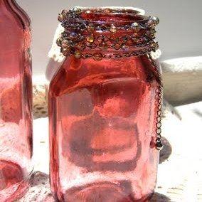 DIY Faux Cranberry Glass