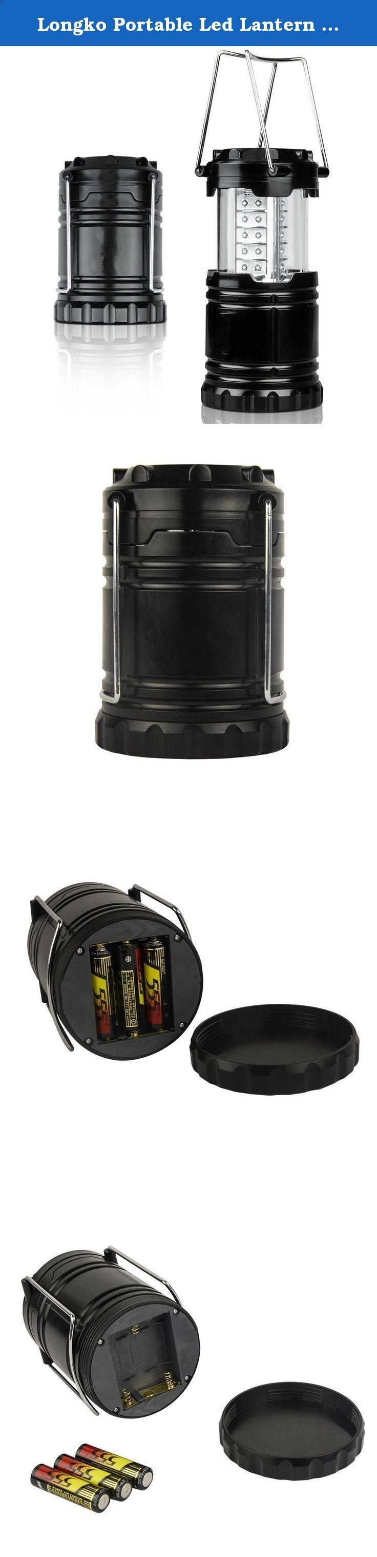 Longko Portable Led Lantern Flashlights Camping Lantern for Awning Camping Hiking Fishing Emergencies Hurricanes Outages (30 Super White LED Chips) - Battery NOT Include. No switch: Longko camping lantern is designed for camping hiking fishing emergencies hurricanes and outages. Unlike traditional unwieldy camp lanterns that need a power button or switch to turn on, this minimalist camping lantern with an expand-and-contract design will light up once expanded. No more fumbling for the ...