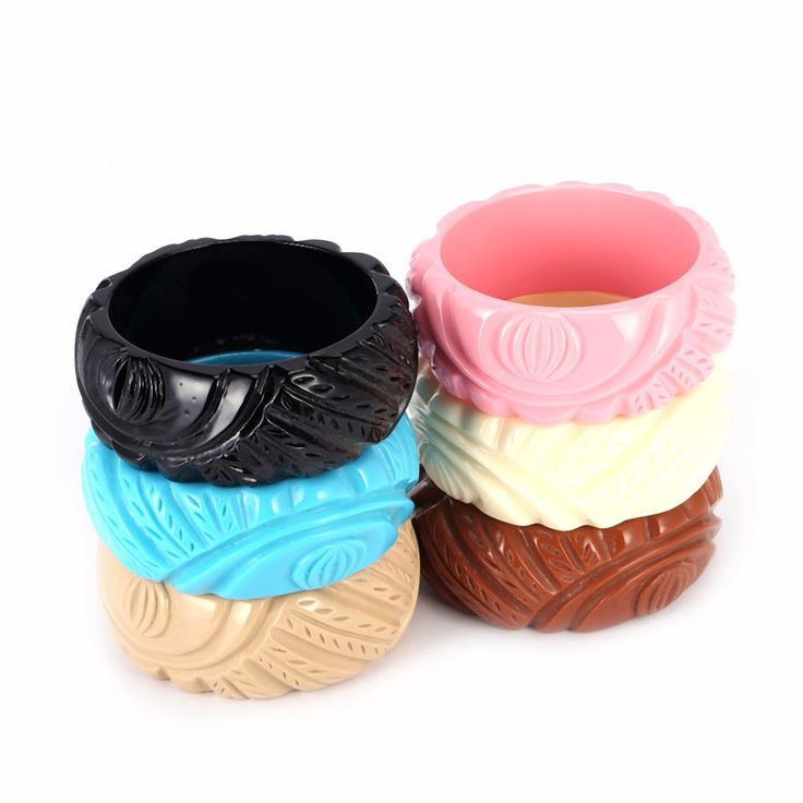 Retro style carved resin bracelets – Moxie Mama Wear
