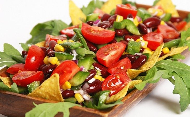 Mexicaanse salade met sugar snaps