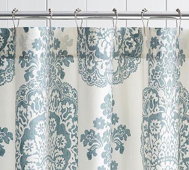 Lucianna Medallion Shower Curtain Blue