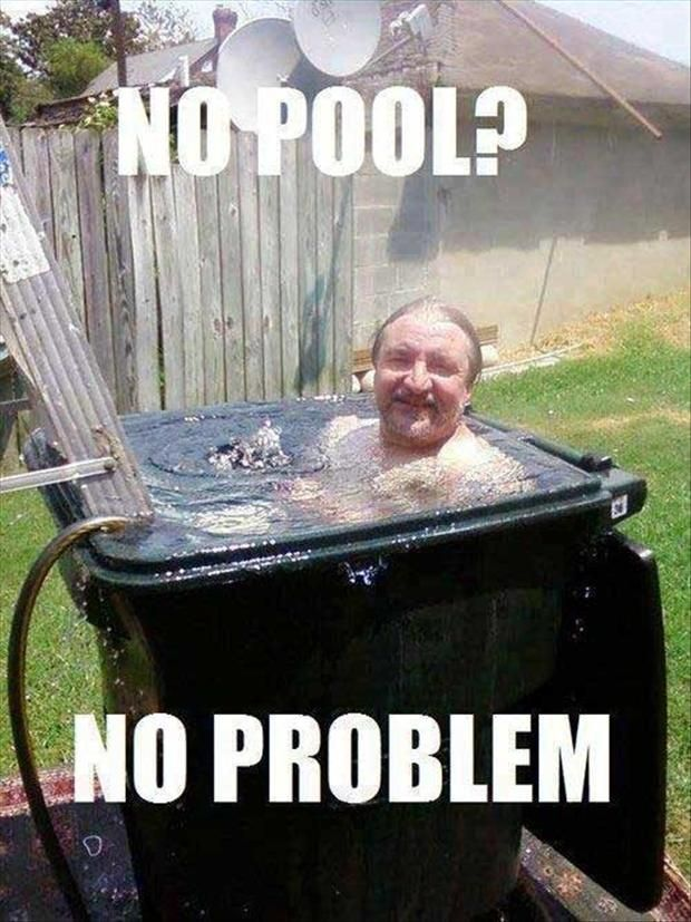 Redneck plunge pool with safety cover