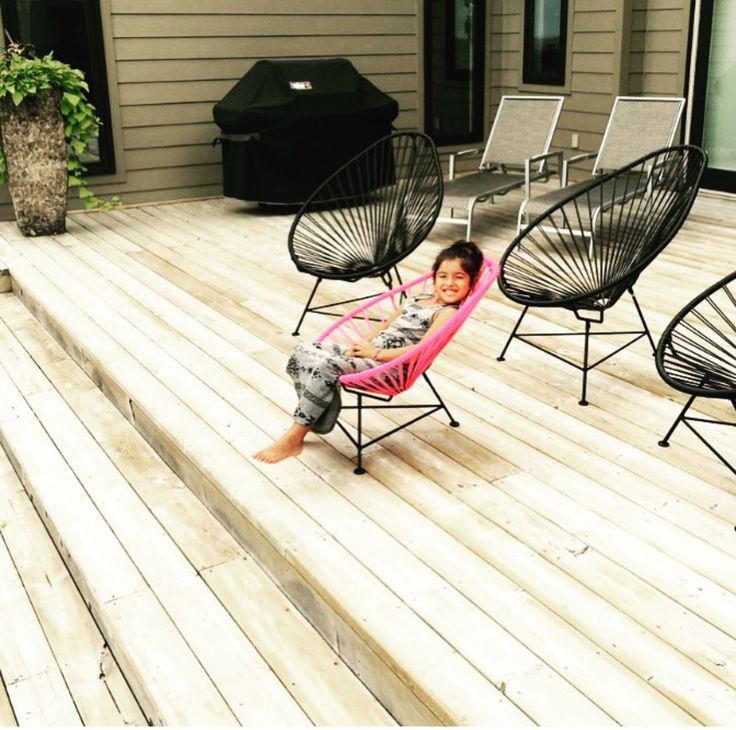 Enjoy a day out in the patio with your Acapulco Chair and watch your kids enjoy their personalized Junior Acapulcos!