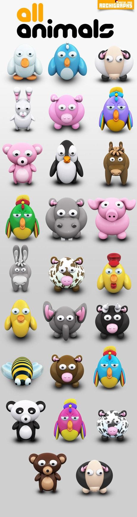 Cartoon animal PNG