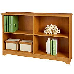 Realspace Magellan Collection 2 Shelf Sofa Bookcase 29 H x 47 14 W x 11 35 D Honey Maple by Office Depot & OfficeMax