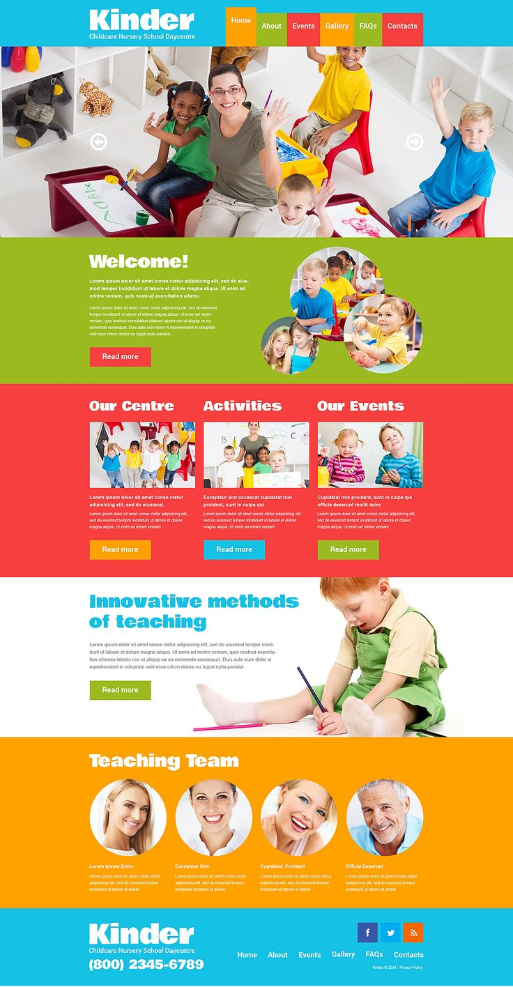 Kids Center Responsive Website Template New Screenshots BIG - Good for PPS