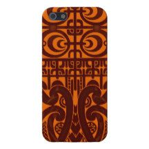 Cool symmetrical tribal Marquesas tattoo design Cover For iPhone 5/5S