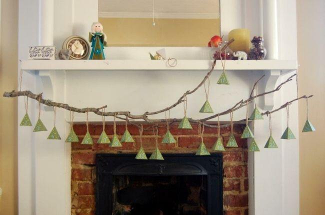 calendrier de l'Avent DIY en branches décoration sympa