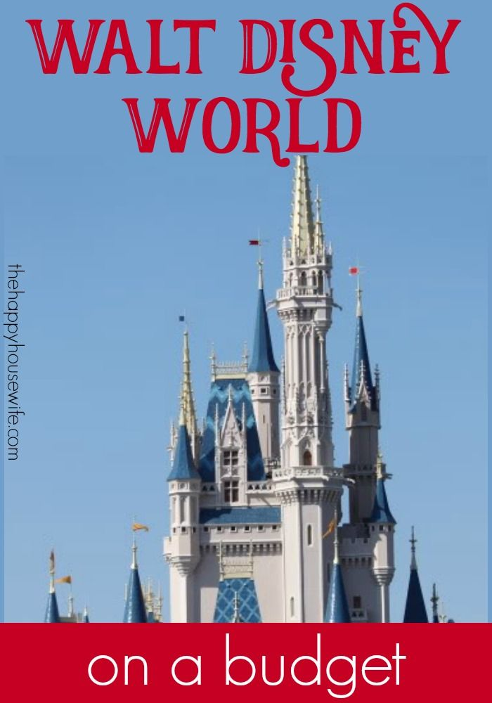 Ideas for planning a trip to Disney on a Budget. From park tickets to saving in the parks, see how you can have a great Disney vacation without breaking the bank.   The Happy Housewife