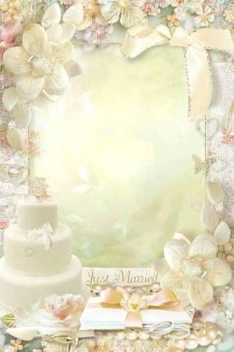 Счастливой свадьбы рамка