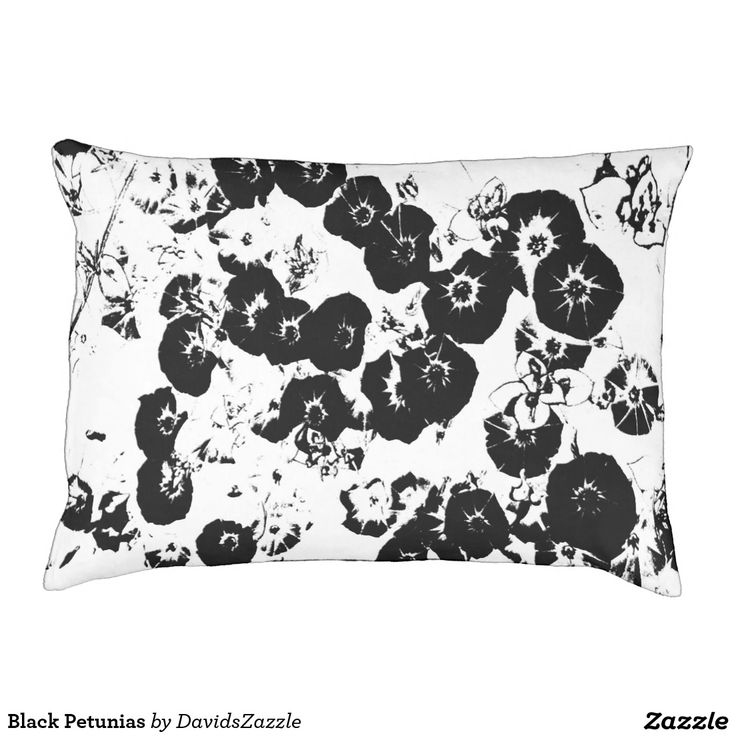 Black Petunias Dog Bed  Available on more products, type in the name of this design in the search bar on my products page to view them all!  #petunia #floral #flower #black #white #pattern #print #all #over #abstract #plant #nature #earth #life #style #lifestyle #chic #modern #contemporary #dog #bed #pet #friend #family