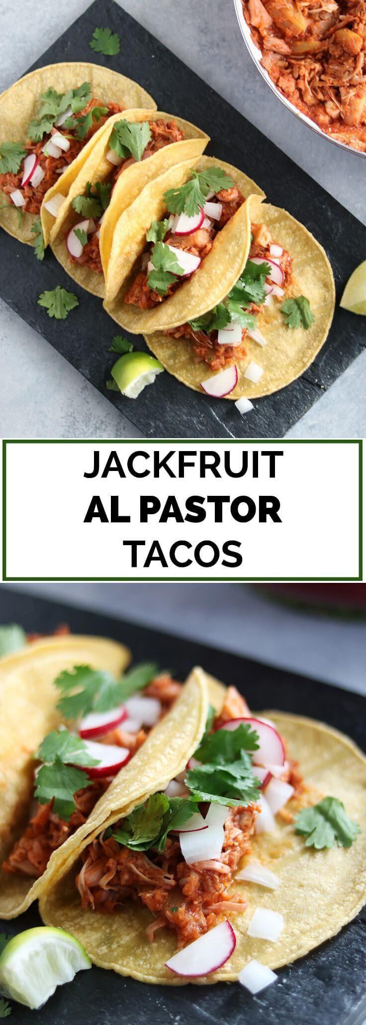 Vegan Jackfruit Al Pastor Tacos
