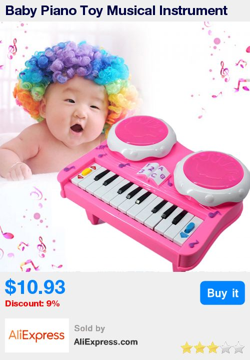 Baby Piano Toy Musical Instrument Educational LED Flashing Light Piano Developmental Music Drum Toy for Kids * Pub Date: 04:29 Jul 11 2017
