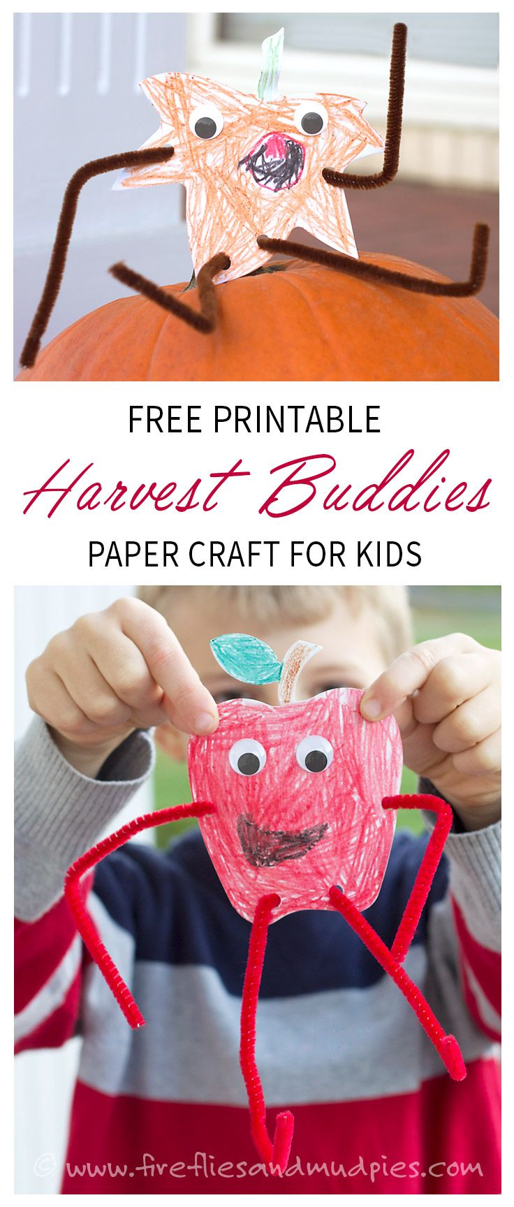 free thanksgiving craft ideas for kids free printable fall craft harvest buddies thanksgiving 7731