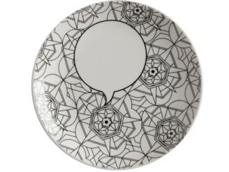 This Kaleidoscope plate from the Mindfulness Messages range includes a set of paints and alphabet stickers so you can colour it in yourself! #maxwellandwilliams #mindfulness #plate #gift #art #create