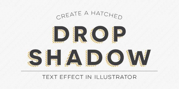 In this week's video tutorial, we create a custom hatched drop shadow text effect using only Adobe Illustrator.