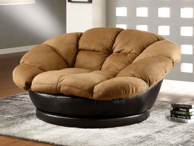 Black and brown oversized swivel chair for living room   Decolover.net - 13 Best Images About Living Room Divider Design Ideas On Pinterest