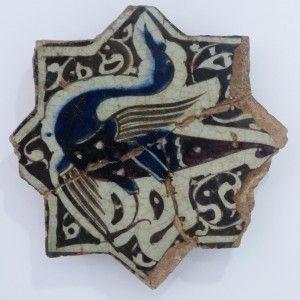 Karatay Medrese, Konya : Single Star Tile Motifs – Yıldız Tek Karo Motifleri-Bird Designs - Kuş Motifleri
