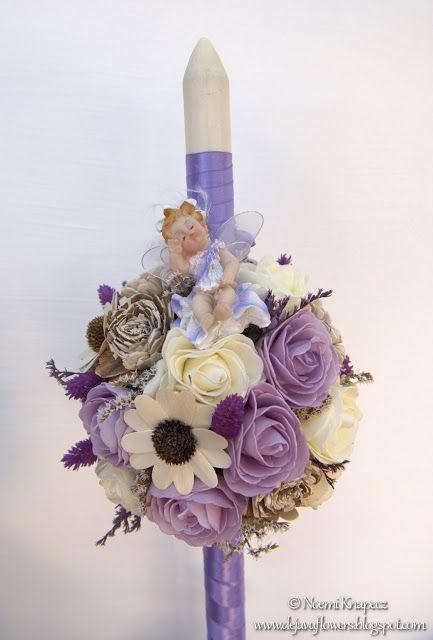 DejavuFlowers: Lumanare de botez din flori uscate